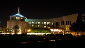 Country Music Hall of Fame at night