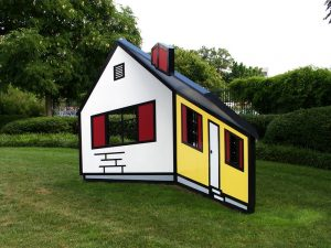 2 dimensional house that looks 3 dimensional