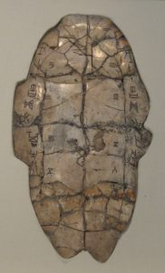 Plastron (belly) of tortoise with writing, used in divination